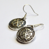 X-Men Xavier School Logo Silver Dangle Earrings