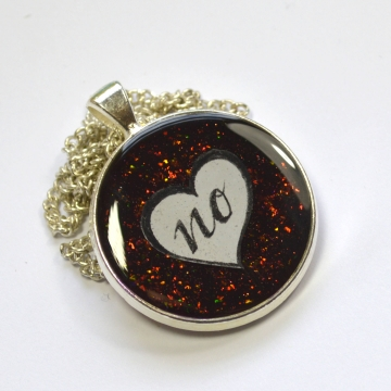 Just No Feminist Multichrome Glitter Pendant