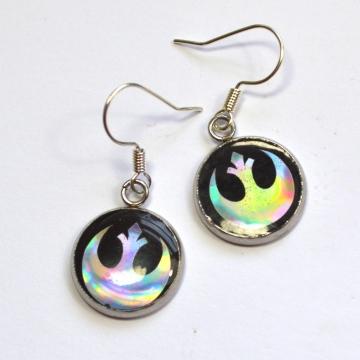 Star Wars Rebel Alliance Holographic Resin Earrings