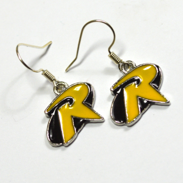Robin Batman Logo Silver Dangle Earrings