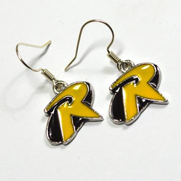 Robin Batman Logo Silver Dangle Earrings