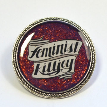 Feminist Killjoy Multichrome Resin Brooch