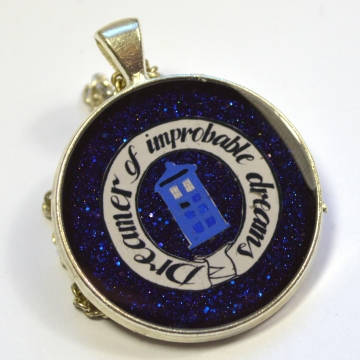 "Doctor Who ""Dreamer of Improbable Dreams"" Resin Pendant"