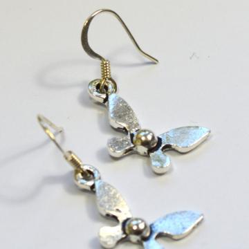 Legend of Zelda Navi Silver Dangle Earrings