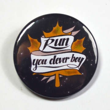 "Dr.Who Doctor Who Clara ""Run, You Clever Boy"" Pinback Button Badge"