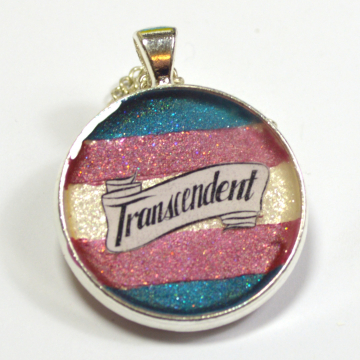 LGBT Queer Trans Pride Transcendent Resin Pendant