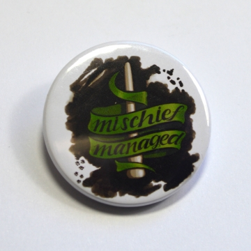Harry Potter Mischief Managed Slytherin Badge