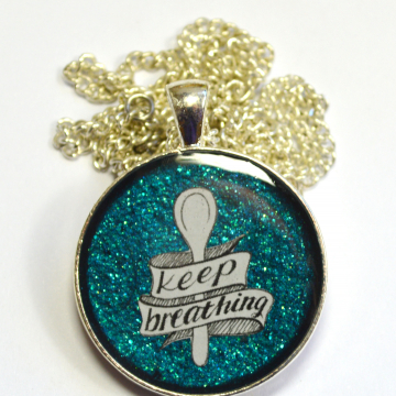 Spoonie Chronic Illness Keep Breathing Pendant