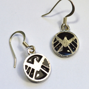 Agents of SHIELD Logo Silver Earrings