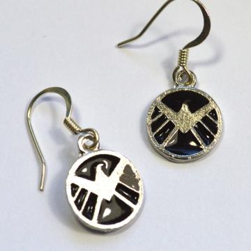 Agents of SHIELD Logo Silver Earrings