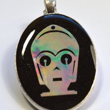 C3P0 Star Wars Robot Holographic Pendant
