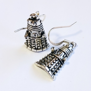 Doctor Who Dalek Silver Earrings