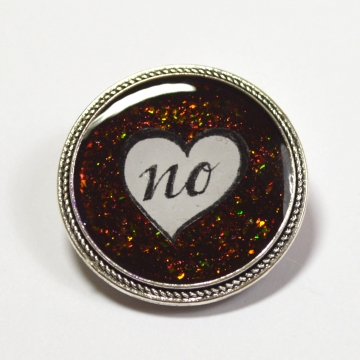 Just No Feminist Resin Brooch