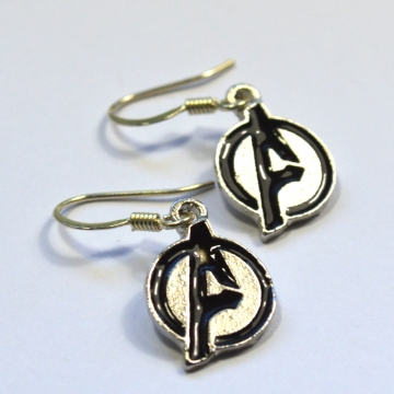 Avengers Logo Geek Gift Silver Earrings