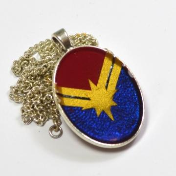 Captain Marvel Carol Corps Logo Pendant