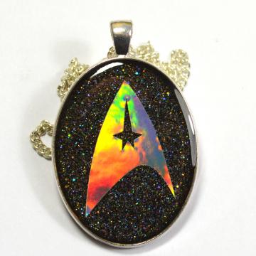 Holographic Starfleet Logo Resin Pendant