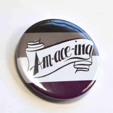 Ace Pride Asexual Pride Pinback Button Badge