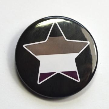 LGBTQIA Galaxy Asexual Star Badge