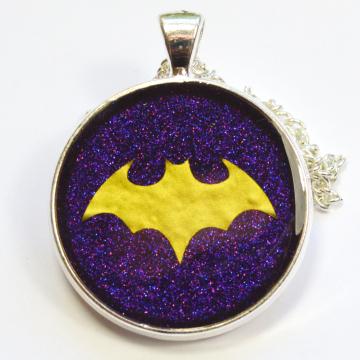 Batgirl Logo Resin Pendant