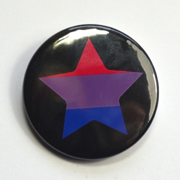 LGBTQIA Galaxy Bisexual Pride Star Badge