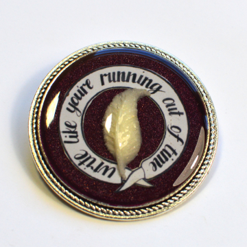 Hamilton Musical Running Out of Time Resin Brooch