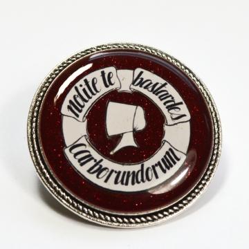 """Feminist Handmaid's Tale """"Nolite te bastardes carborundorum"""" Resin Brooch"""