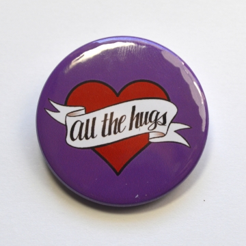 All The Hugs Heart Badge