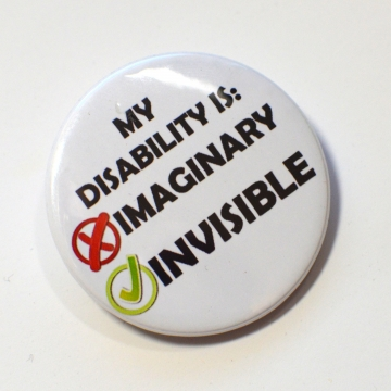 Invisible Not Imaginary Chronic Illness Disability Spoonie Spoon Theory Badge