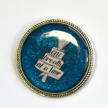 One Breath At A Time Spoonie Chronic Illness Resin Brooch