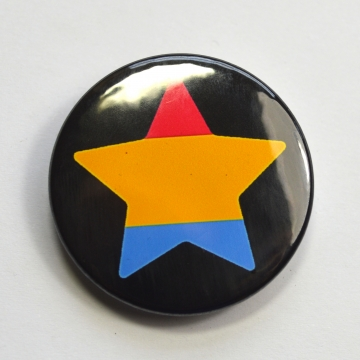 LGBTQIA Galaxy Pansexual Star Badge