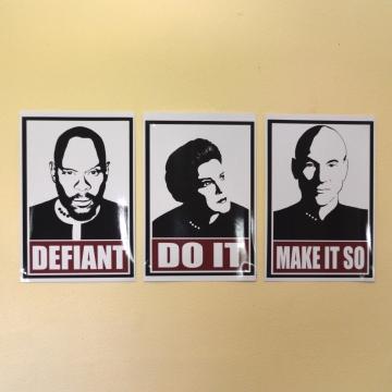 Star Trek Captains Motivational Mini Prints