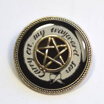 "Supernatural ""Carry On My Wayward Son"" Resin Brooch"