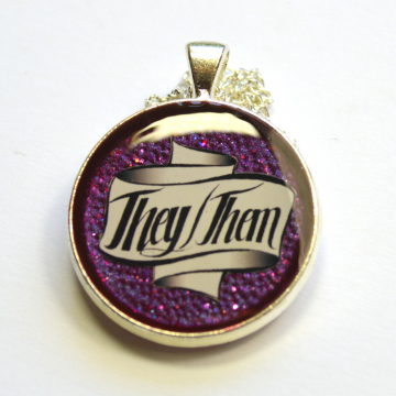 Pronouns LGBTQIA They-Them Pendant