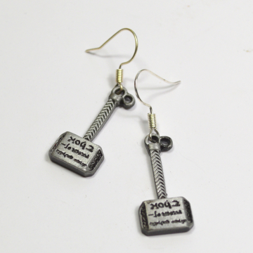Thor Mjölnir Hammer Dangle Earrings