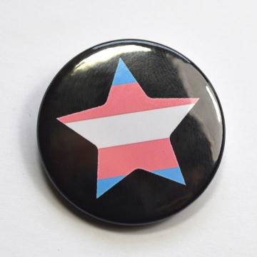 LGBTQIA Galaxy Trans Star Badge