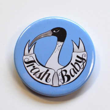 Trash Baby Ibis Funny Meme Light Blue Badge