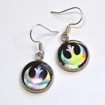 Star Wars Rebel Alliance Holographic Resin Earrings