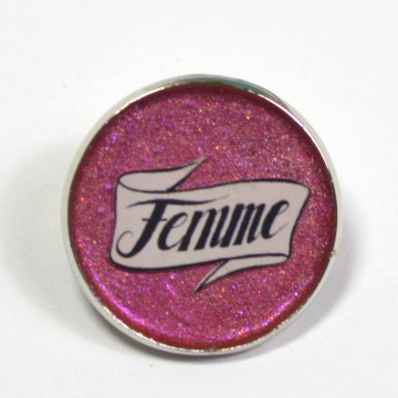 Femme Pride Queer Resin Lapel Pin