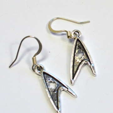 Star Trek TOS Federation Medical Insignia Dangle Earrings
