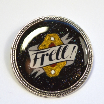 "Farscape ""Frell"" Resin Brooch"