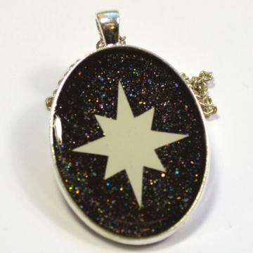 Glow In The Dark Astronomy Sci-Fi Star Necklace