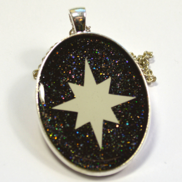 Glow In The Dark Astronomy Sci-Fi Star Necklace