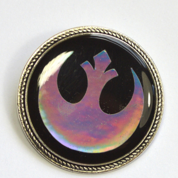 Star Wars Rebel Alliance Holographic Holo Resin Brooch