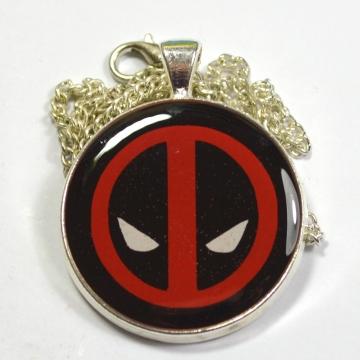 Deadpool Mask Logo Resin Pendant