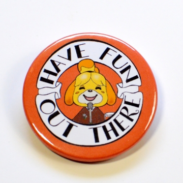 ACNH Isabelle Have Fun Out There Badge