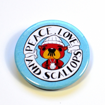 ACNH Pascal Peace, Love and Scallops Badge