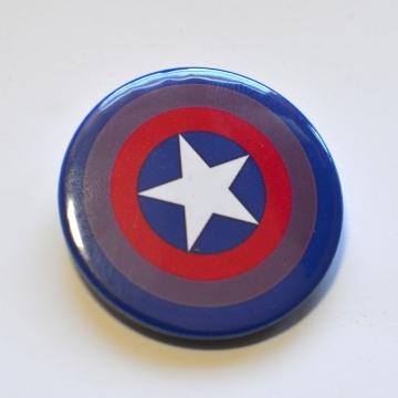 Bisexual Flag Capain America Shield Badge