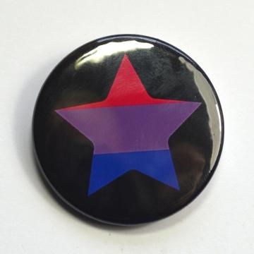 LGBTQIA Galaxy Bisexual Star Badge