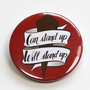 Buffy The Vampire Slayer BTVS 90s Retro Feminist Badge