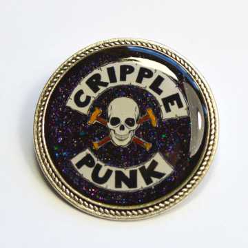 Cripple Punk Disability Spoonie Resin Brooch